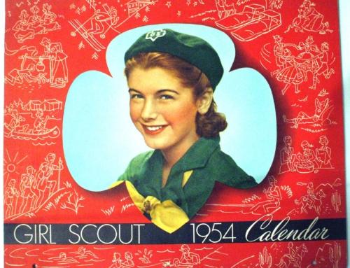 1954 GIRL SCOUT CALENDAR